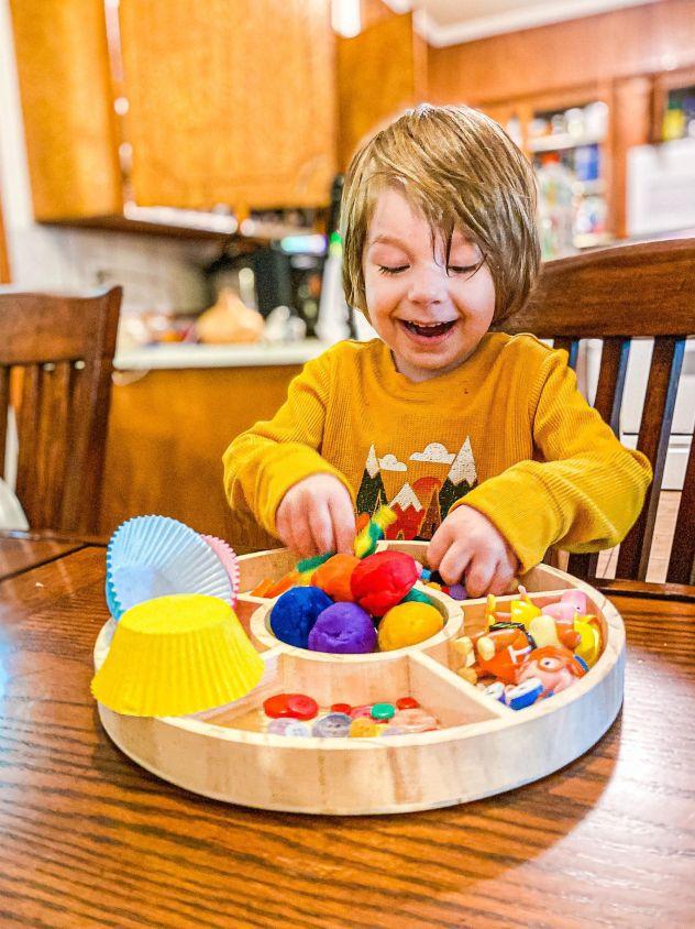 Rainbow Playdough Kit Invitation to Play