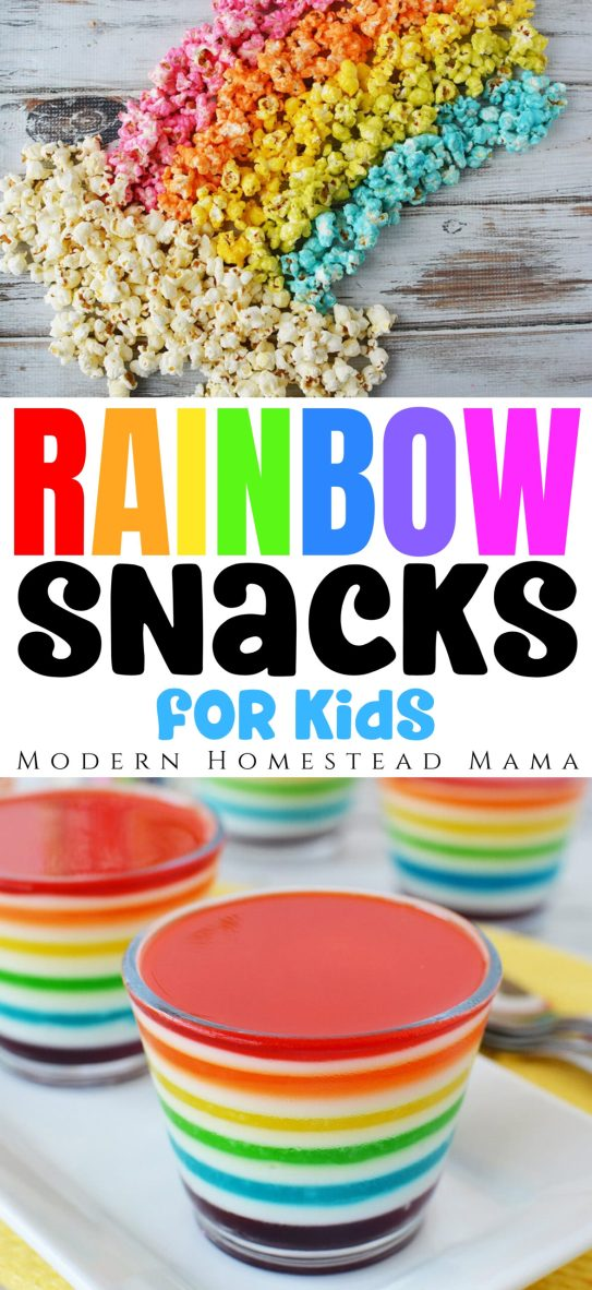 16 Fun & Delicious Rainbow Snacks for your Kids | Modern Homestead Mama