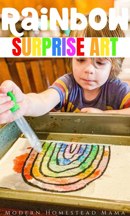 Rainbow Surprise Art Activity for Kids | Modern Homestead Mama