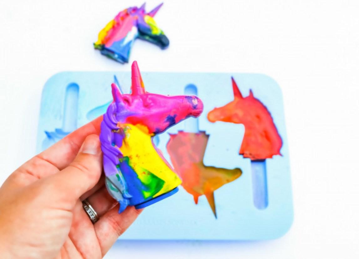 Rainbow Unicorn Crayons