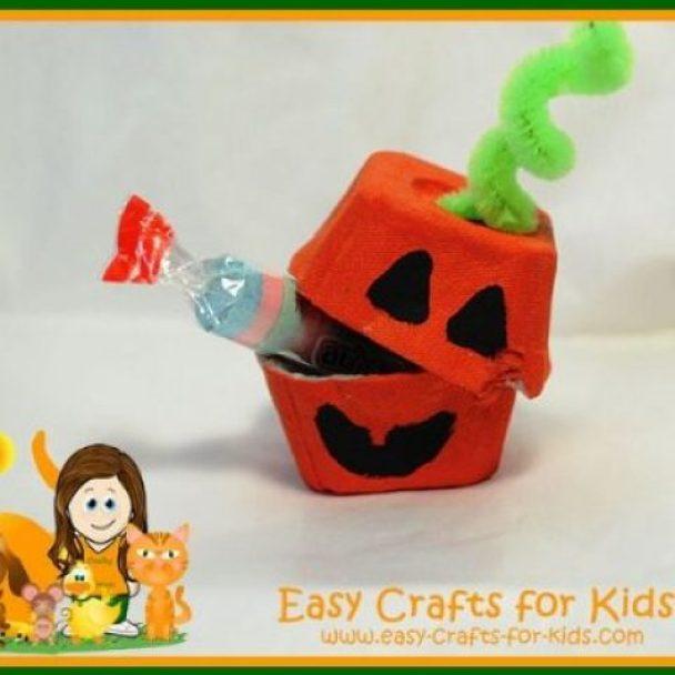 Egg Carton Pumpkin Treat