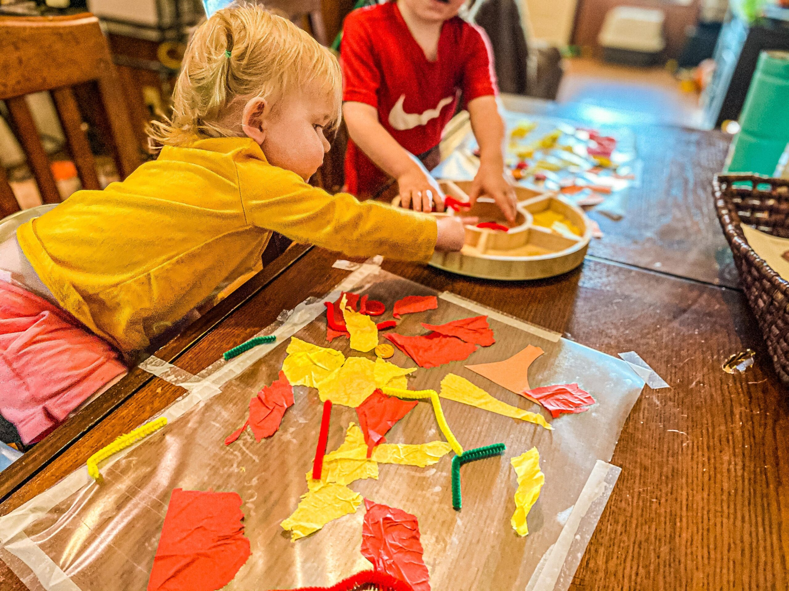 Fall Process Art for Toddlers & Preschoolers