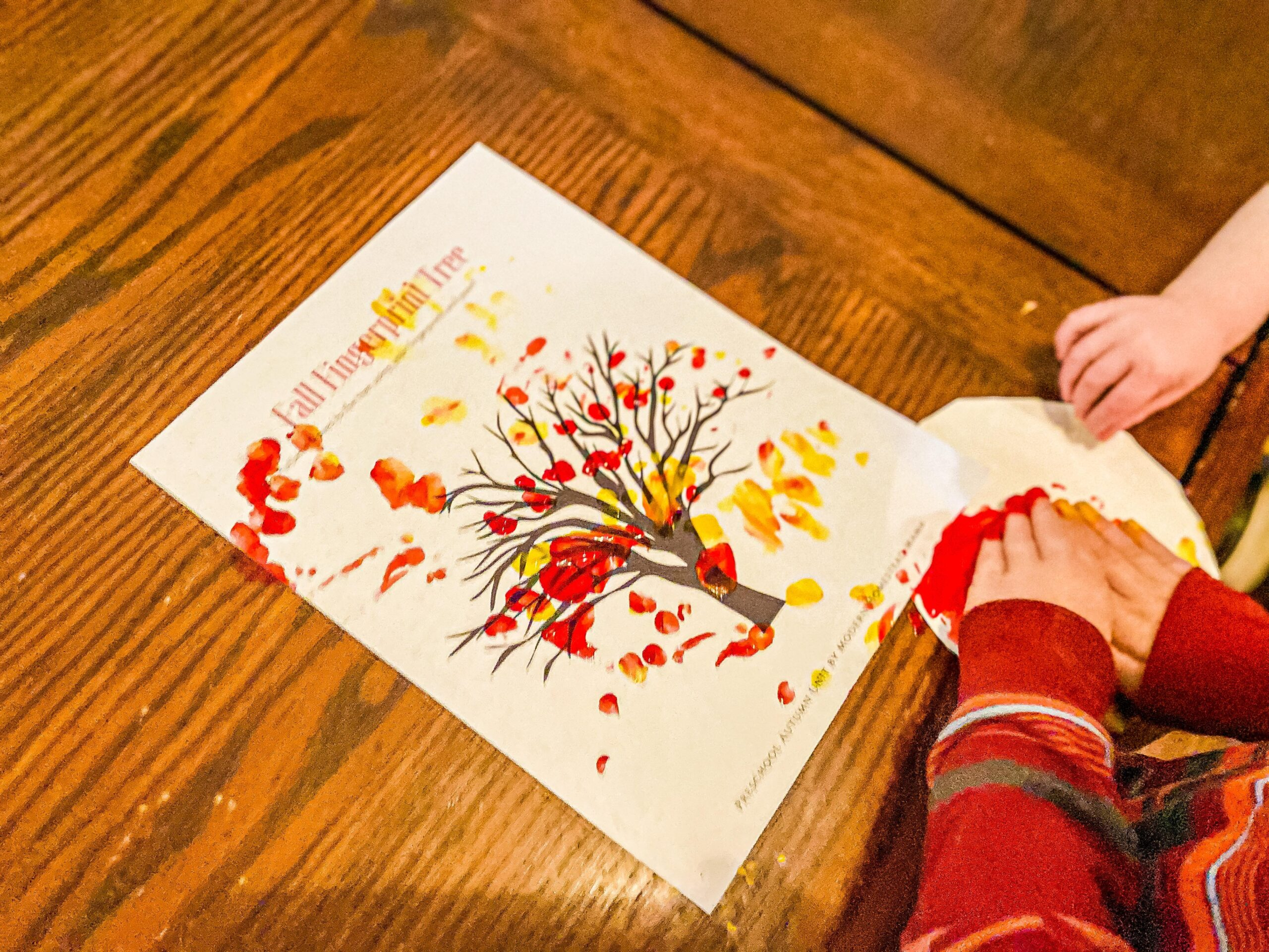 Fingerprint Fall Leaf Craft (with FREE Printable)