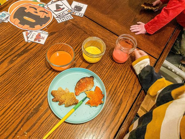 Fall Leaves Painted Toast Activity
