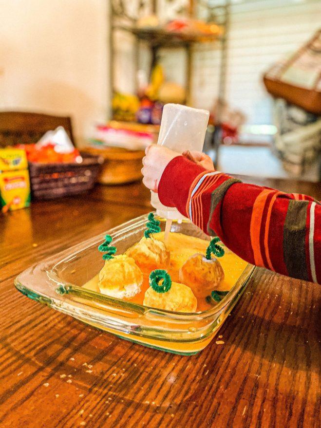 Fizzing Pumpkins Activity for Preschoolers