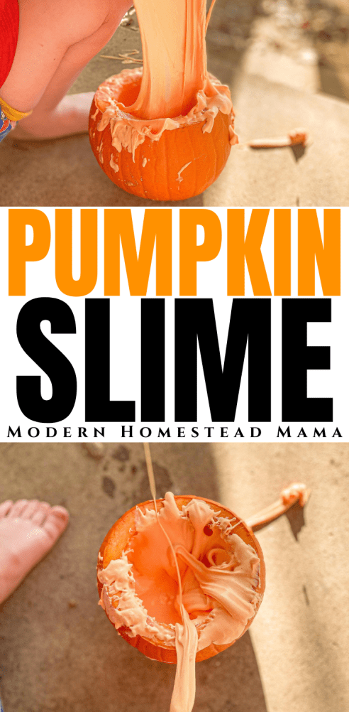 Fluffy Pumpkin Slime | Modern Homestead Mama