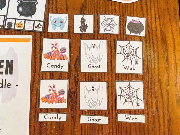 Halloween 3-Part Cards