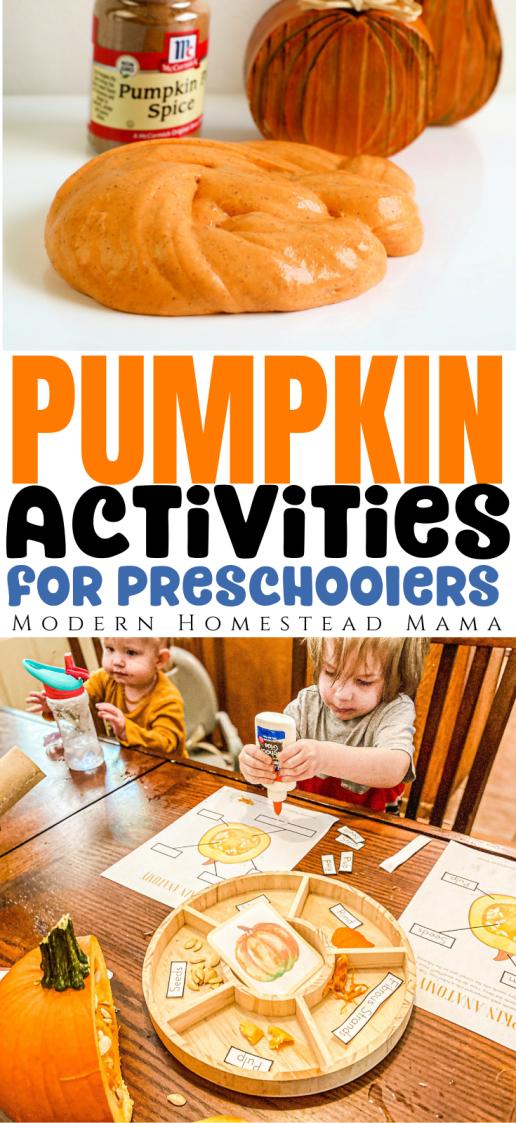 Pumpkin Activities for Preschoolers   Modern Homestead Mama