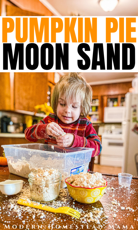 Pumpkin Moon Sand Activity | Modern Homestead Mama