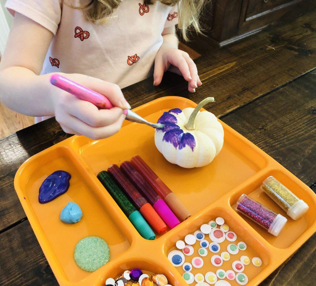 Pumpkin Painting Tray