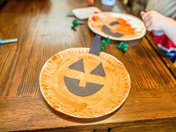 Pumpkin Paper Plate Craft