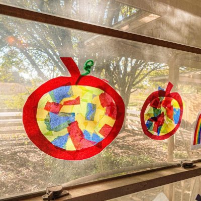 Pumpkin Suncatchers Craft for Toddlers & Preschoolers