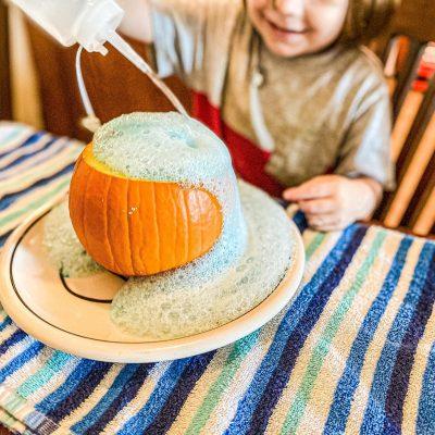 Pumpkin Volcano Science Experiment
