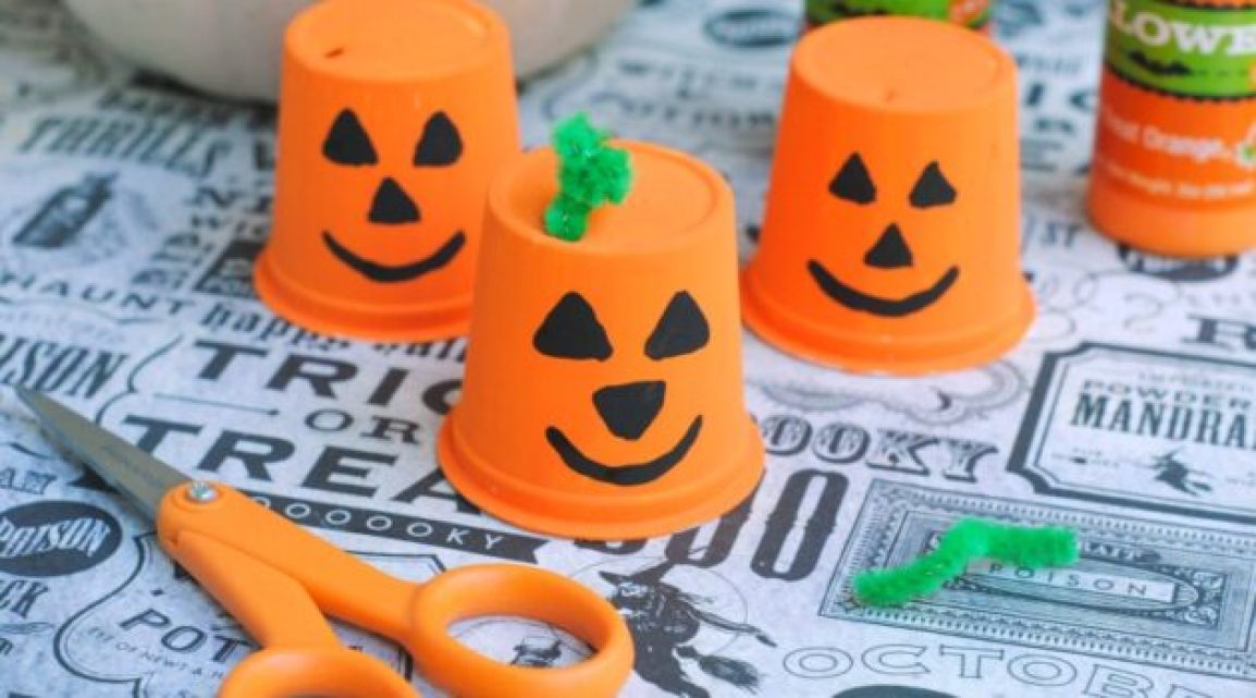 Upcycled K-Cup Pumpkin Craft