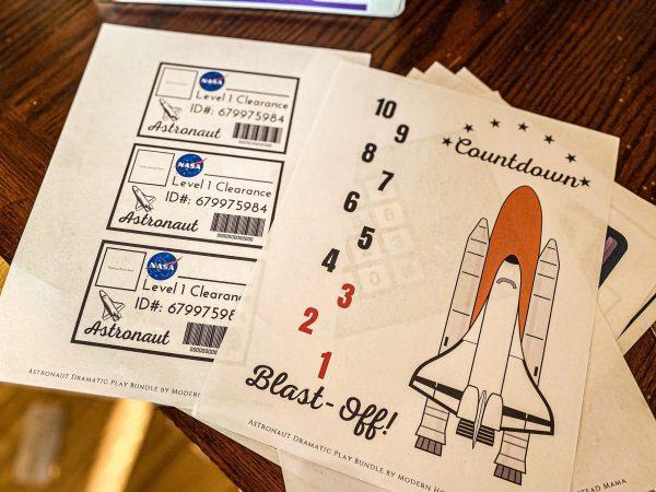 Astronaut Dramatic Play Bundle Launch Countdown