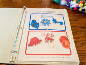 Color Sorting Worksheet for Toddlers