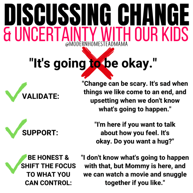 Discussing Change & Uncertainty with our Kids | Modern Homestead Mama