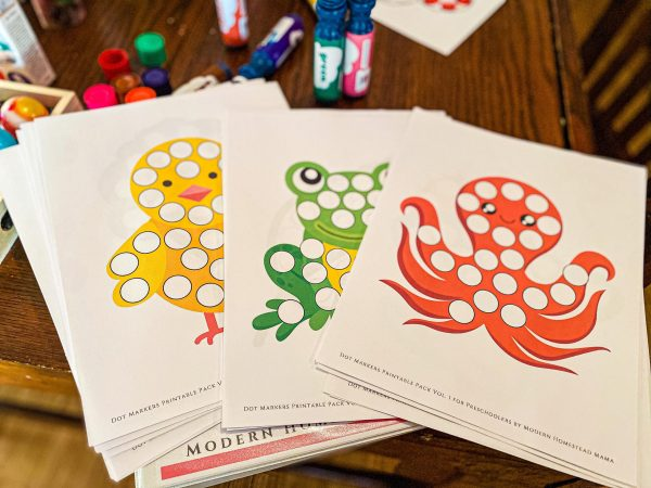 Dot Marker Pack for Toddlers & Preschoolers Volume 1
