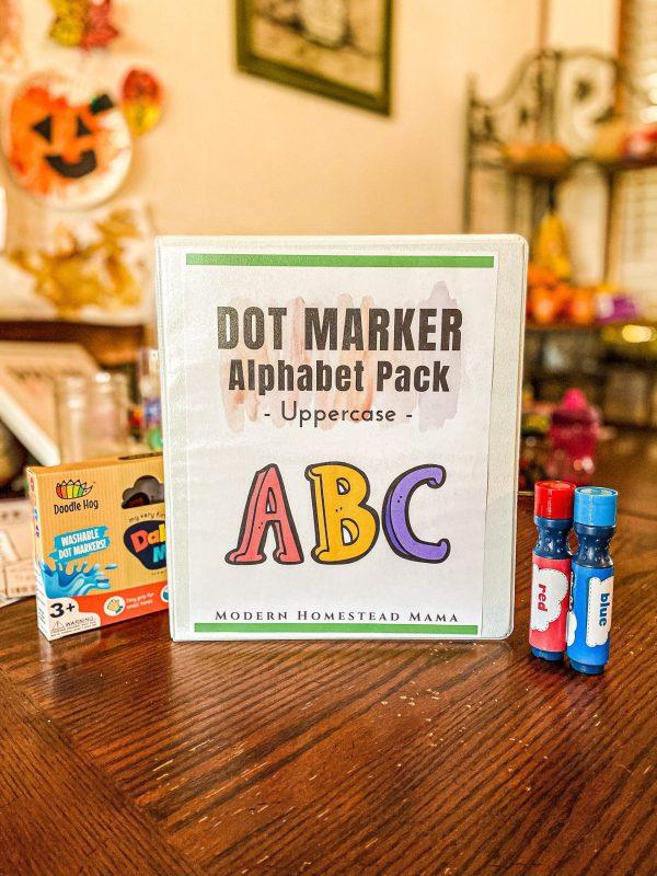 Dot Marker Uppercase Alphabet Pack