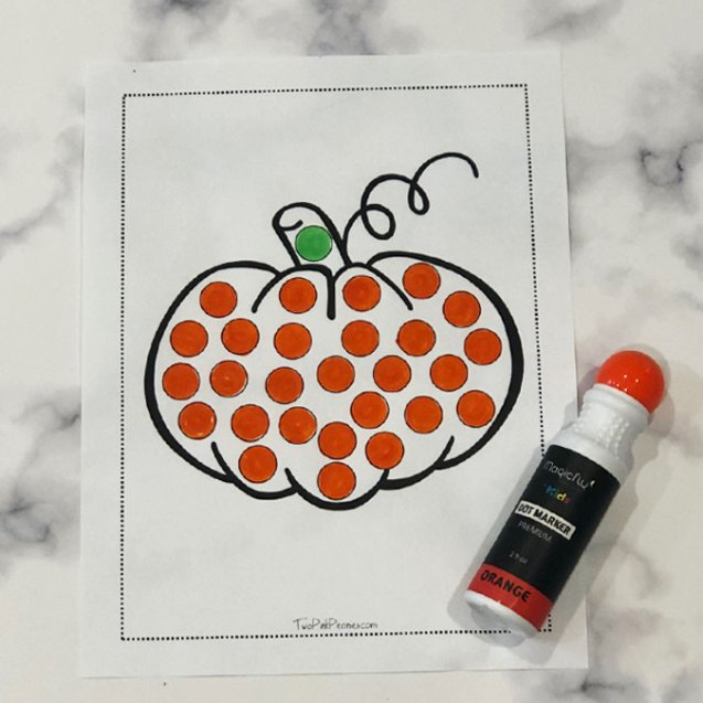Fall Dot Marker Printable