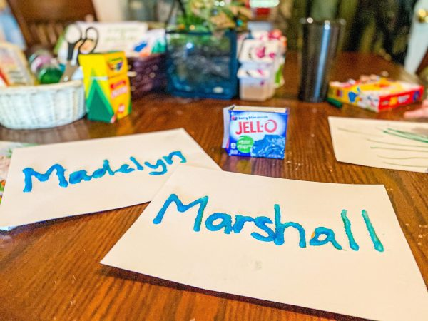 Scratch and Sniff Jello Name Activity