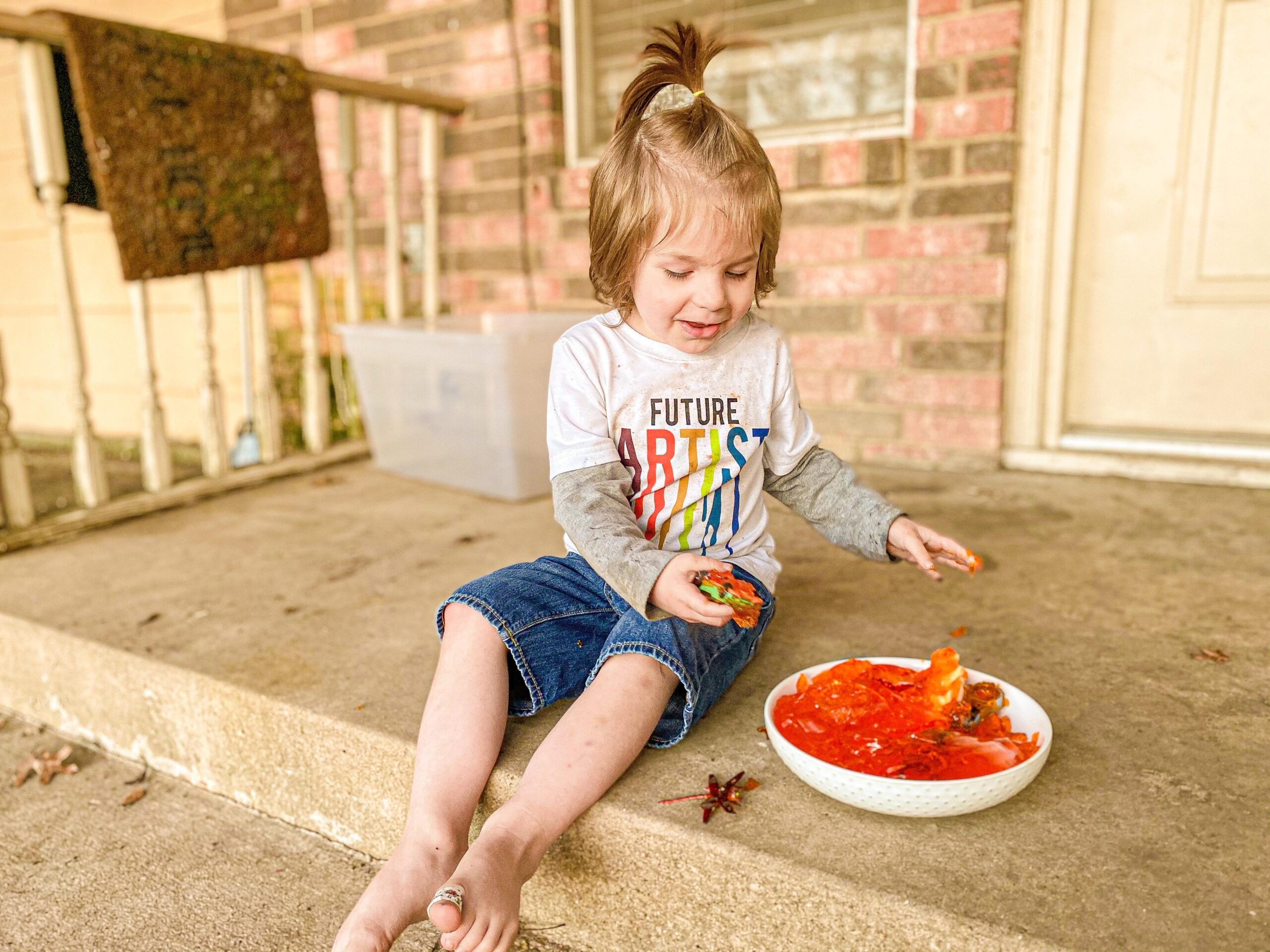 Jello Dig Sensory Activity for Babies, Toddlers, and Kids