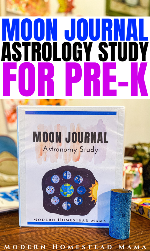 Moon Observation Journal Astronomy Study for Kids   Modern Homestead Mama