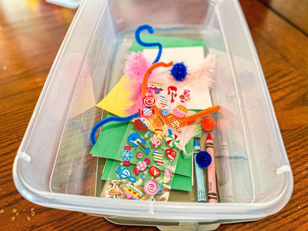 Open Art Activity Bin for Toddlers