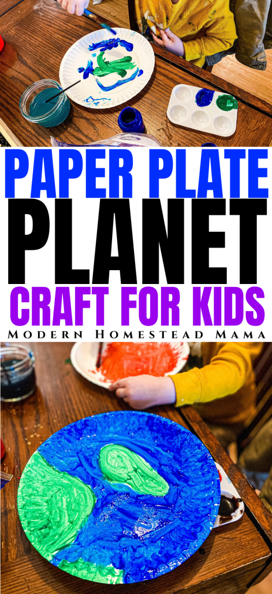 Paper Plate Planets Craft for Kids | Modern Homestead Mama