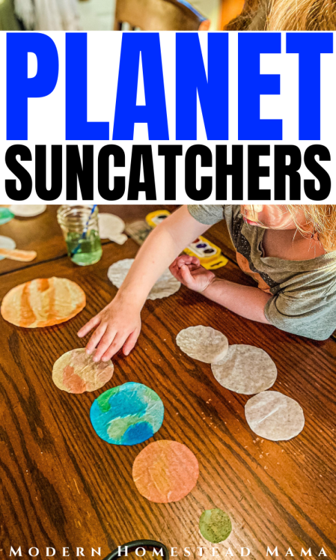 Planet Suncatchers Craft for Kids | Modern Homestead Mama