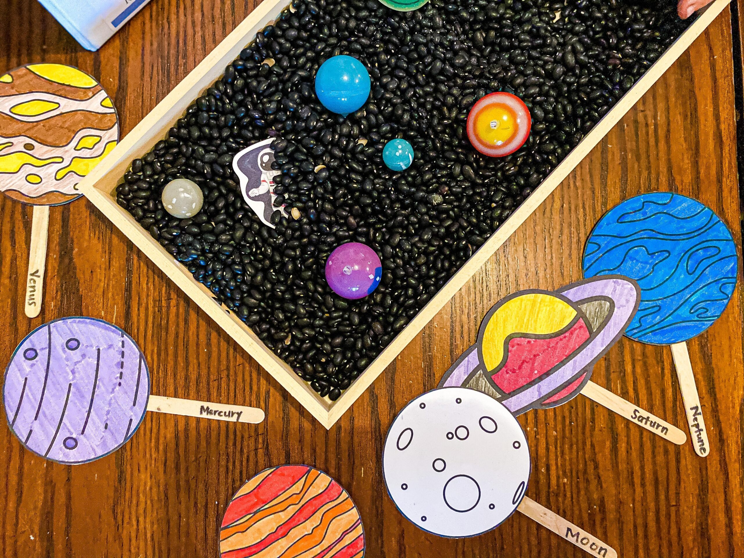 Space Sensory Bin for Preschoolers