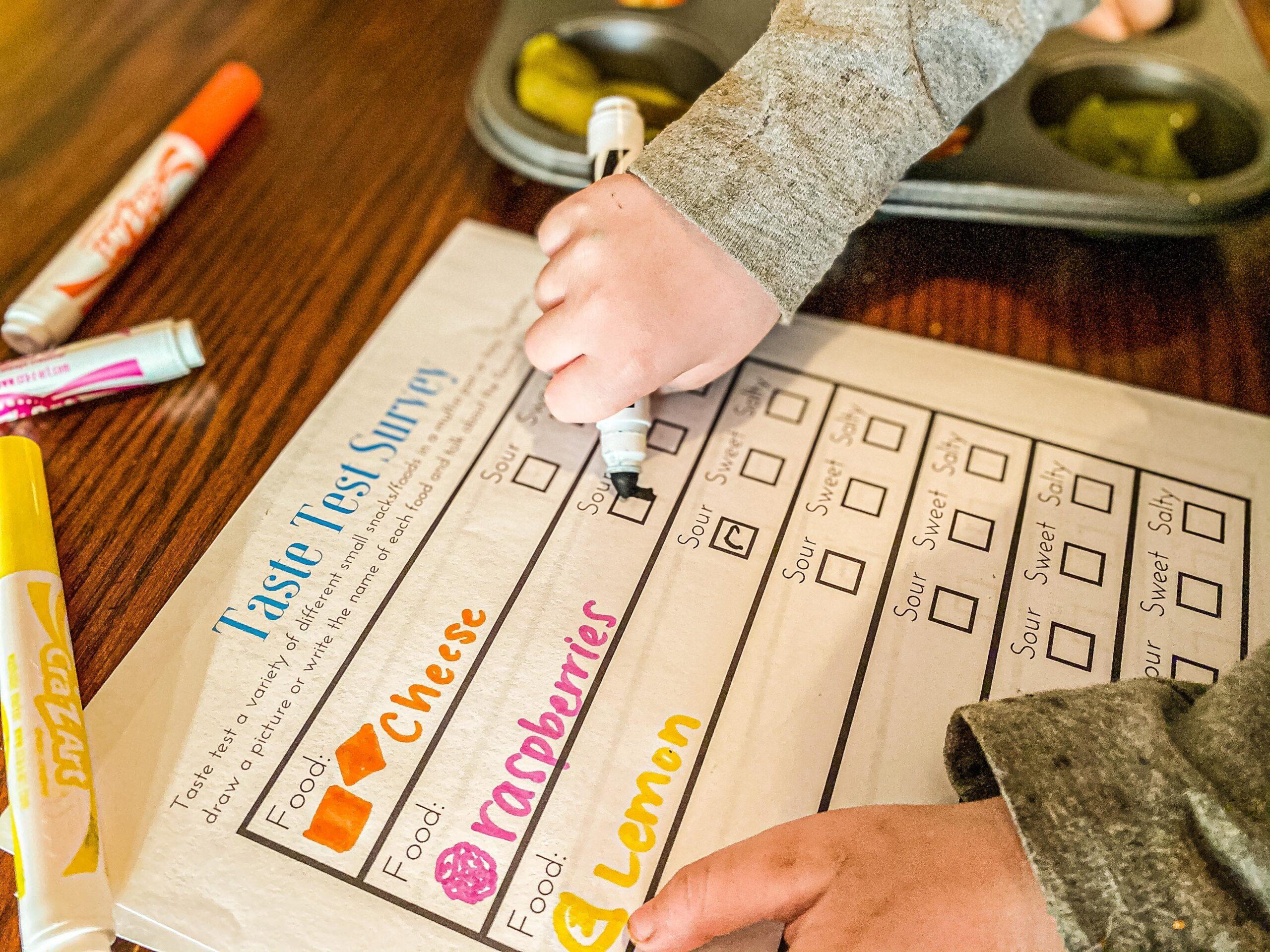 5 Senses Activity: Taste Test Survey Printable