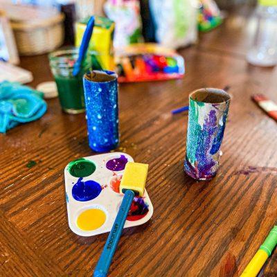 Telescope Craft for Preschoolers (Toilet Paper Roll Craft)