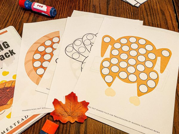 Thanksgiving Dot Marker Pack for Preschoolers