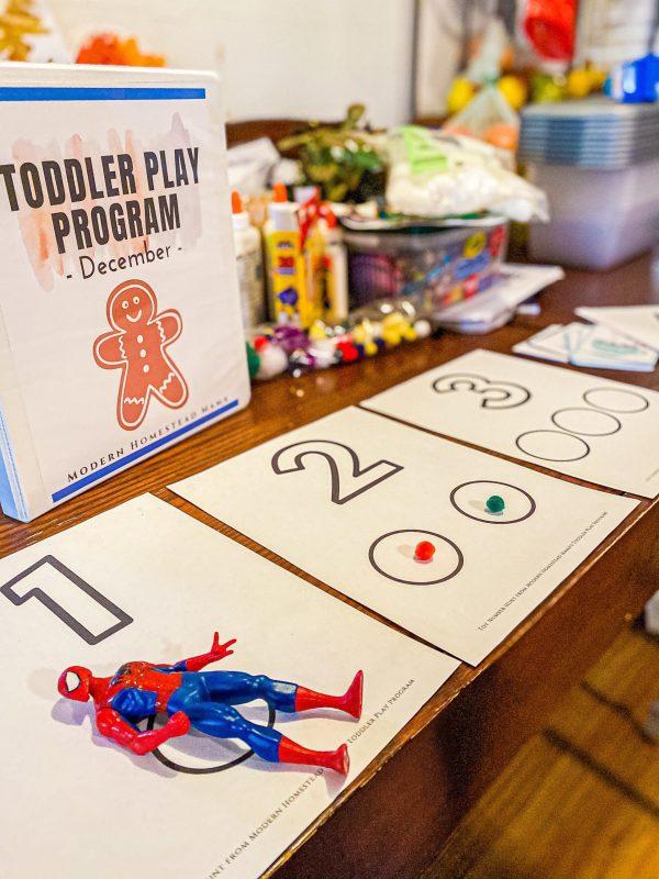 Toy Number Hunt Toddler Printable