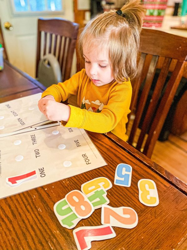 1-10 Matching Busy Binder Printable for Toddlers