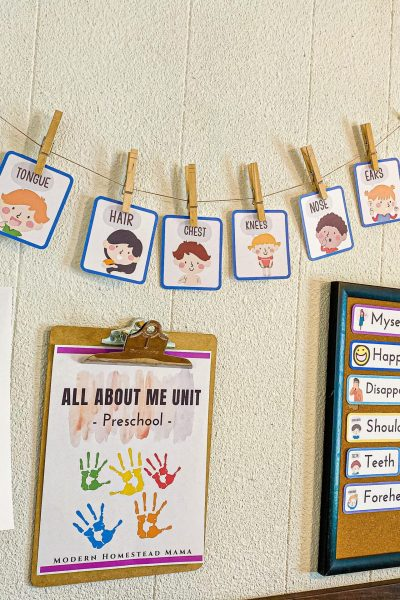 All About Me Preschool Unit Activities and Crafts