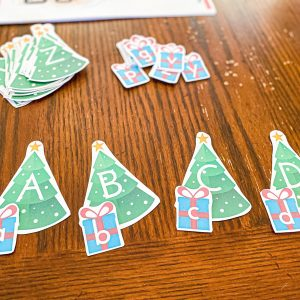 Christmas Tree & Present Alphabet Match