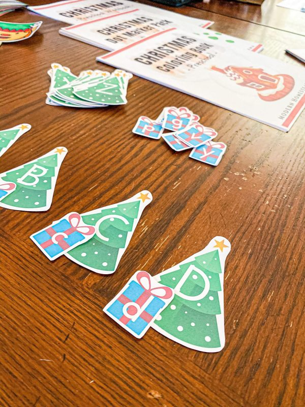 Christmas Tree & Present Alphabet Match