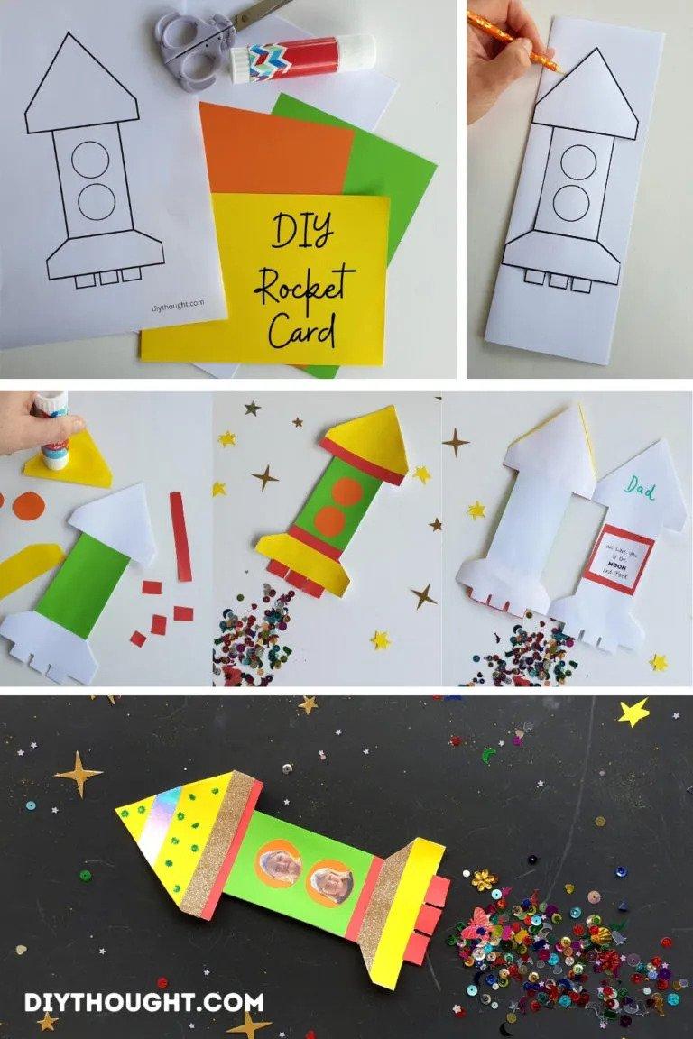 DIY Cutout Rocket Card