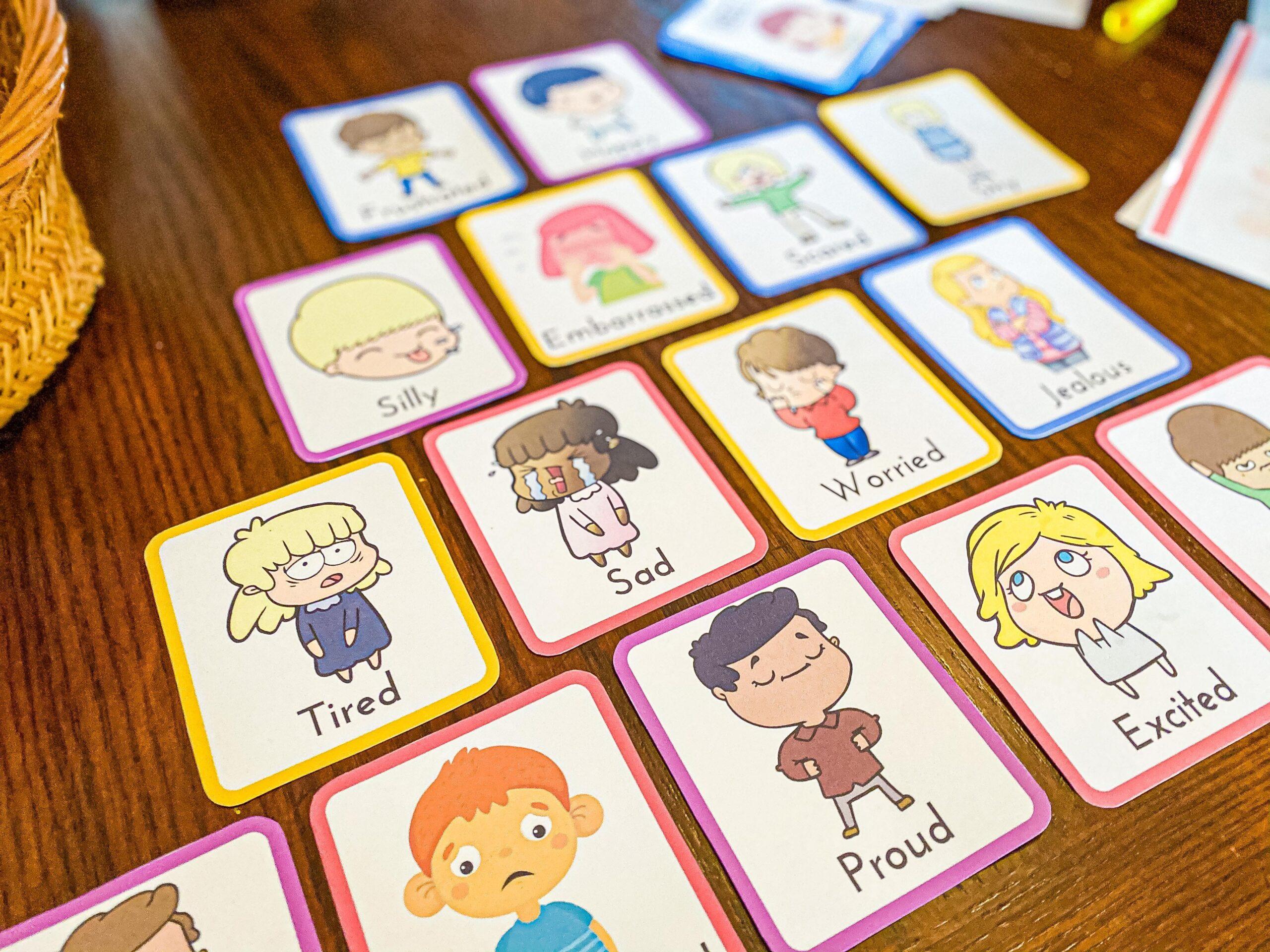 Emotion Flashcards Printable for Preschoolers