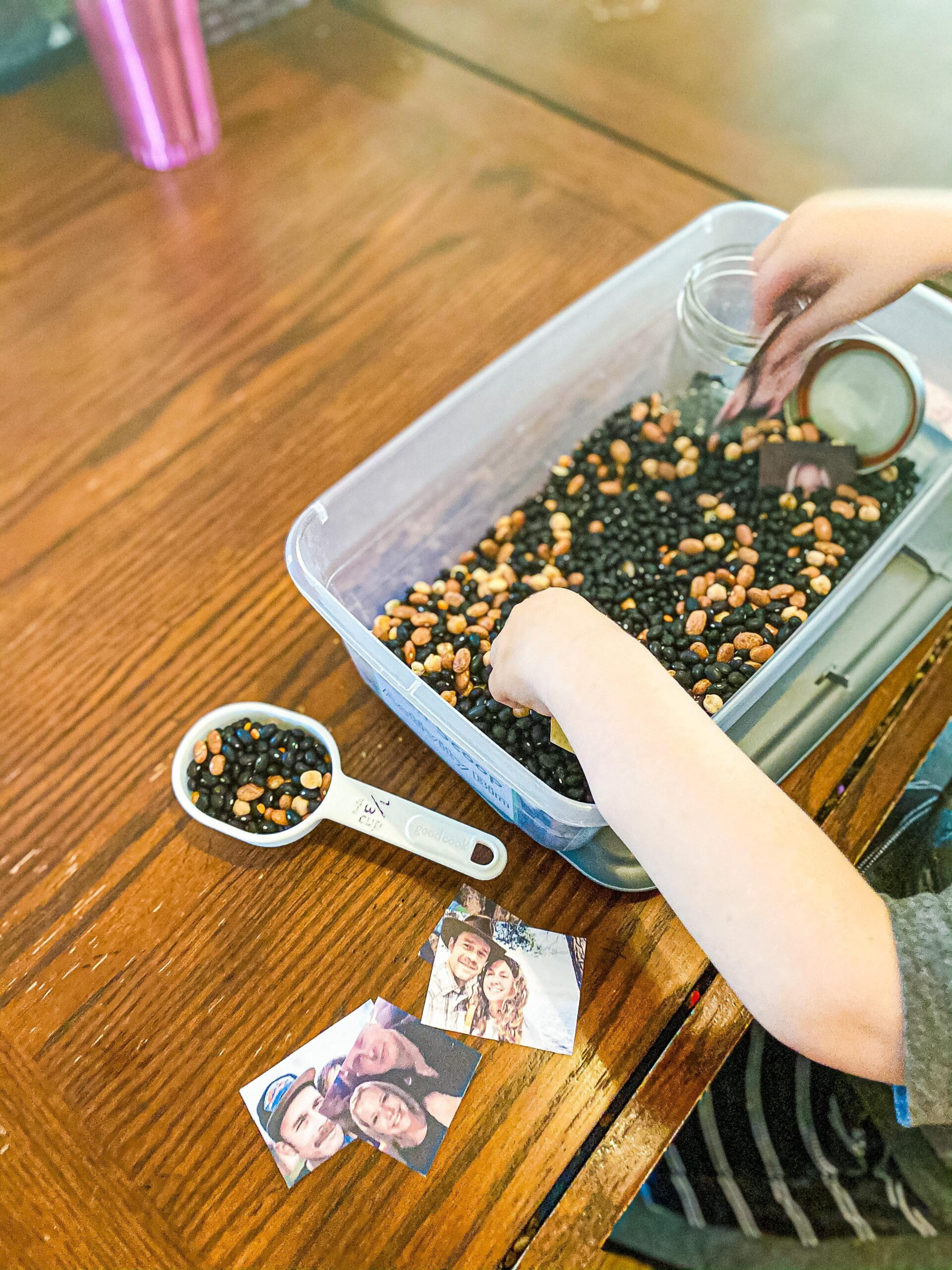 Family Sensory Bin for Preschoolers