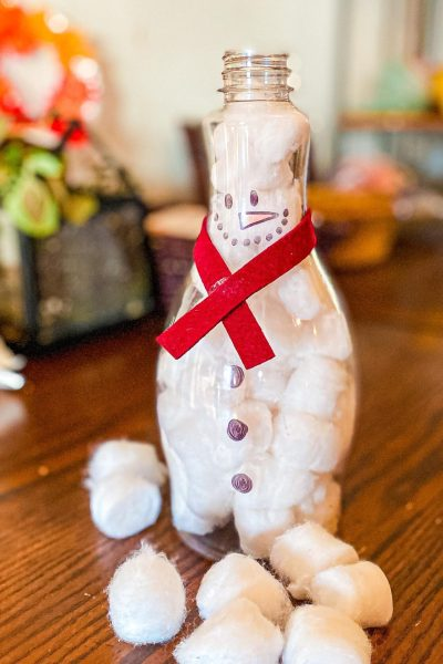 Fine Motor Snowman Activity for Toddlers