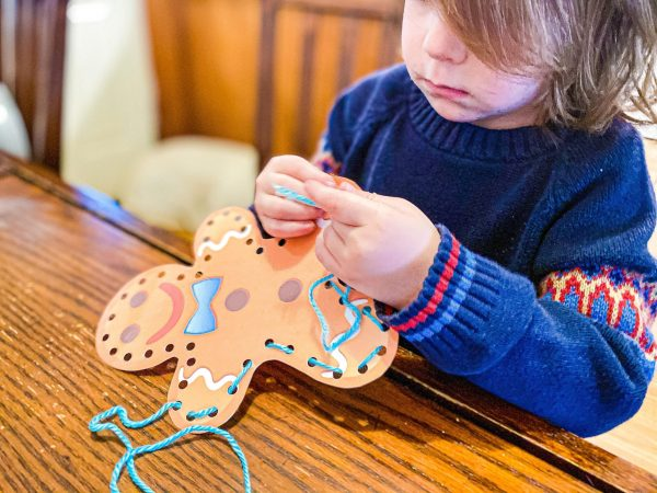 Gingerbread Man Lacing Fine Motor Activity