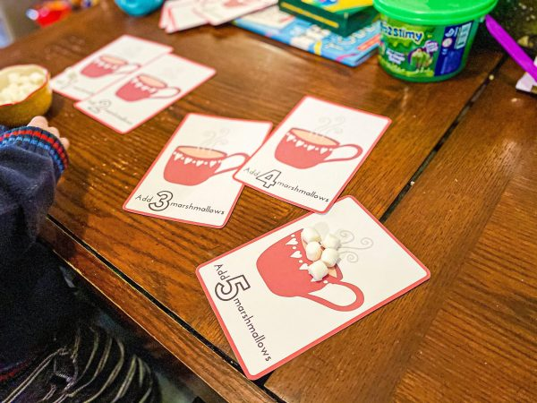 Hot Cocoa Marshmallow Counting Winter Printable Activity for Preschoolers