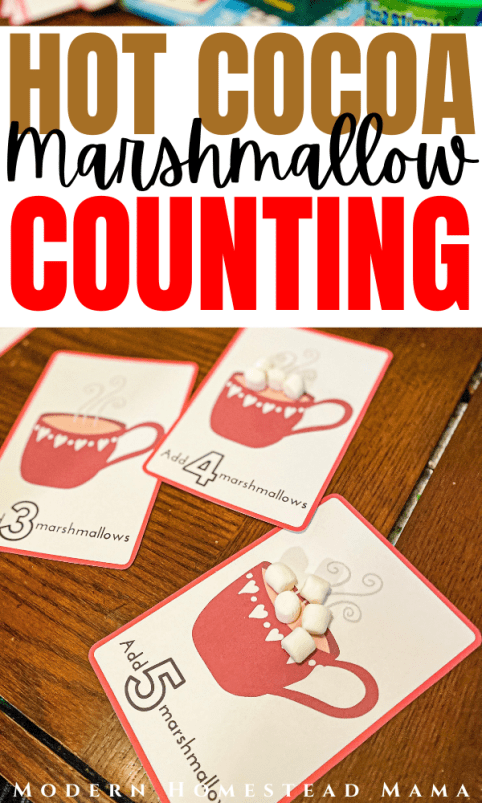 Hot Cocoa Marshmallow Counting Winter Printable Activity for Preschoolers | Modern Homestead Mama