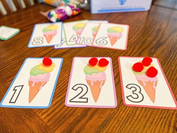 Ice Cream Pom-Pom Counting Printable