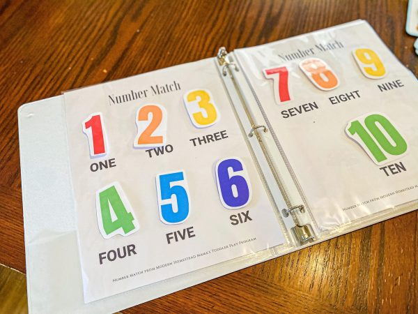 Number Toddler Match Printable