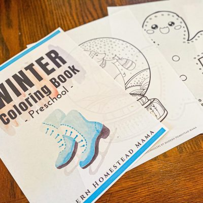 Winter Coloring Book Printable for Preschoolers