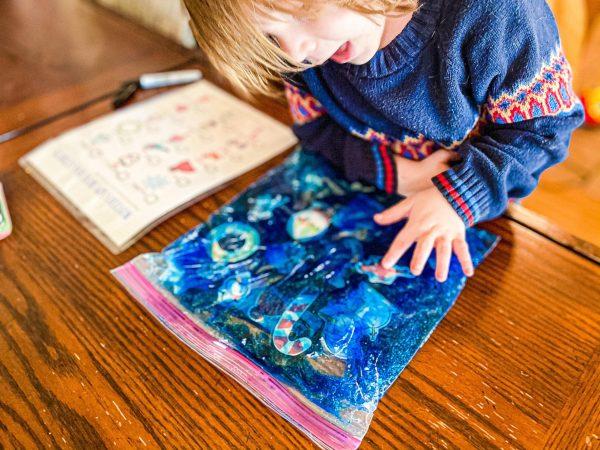 Winter I-Spy Busy Bag for Preschoolers